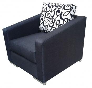 Πολυθρόνα καρέ με μεταλλικά πόδια