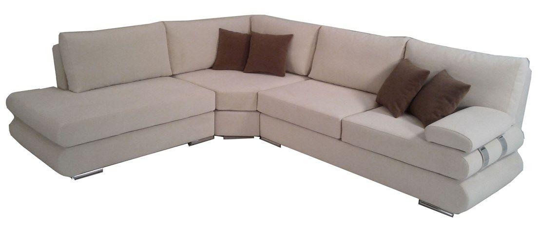 Γωνιακός καναπές με inox πόδια
